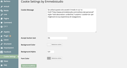 Cookie Plugin WordPress - Emmebistudio
